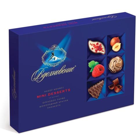 """Конфеты шоколадные КРАСНЫЙ ОКТЯБРЬ """"Вдохновение"""", маленькие десерты, 165 г, КО14713"""