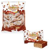 """Конфеты шоколадные РОТ ФРОНТ """"Коровка"""", вафельные с шоколадной начинкой, 250 г, пакет, РФ09756"""