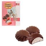Зефир СЛАДКИЕ ИСТОРИИ, с клубникой, шоколадная глазурь, 250 г, пакет, РФ14120