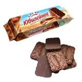 Печенье ЮБИЛЕЙНОЕ с какао и шоколадной глазурью, 116 г, 60541