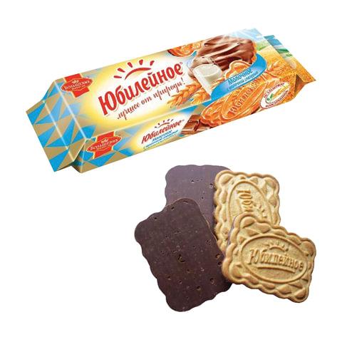 Печенье ЮБИЛЕЙНОЕ молочное с шоколадной глазурью, 116 г, 60540