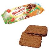 Печенье ЮБИЛЕЙНОЕ ореховое с темной глазурью, 116 г, 60494