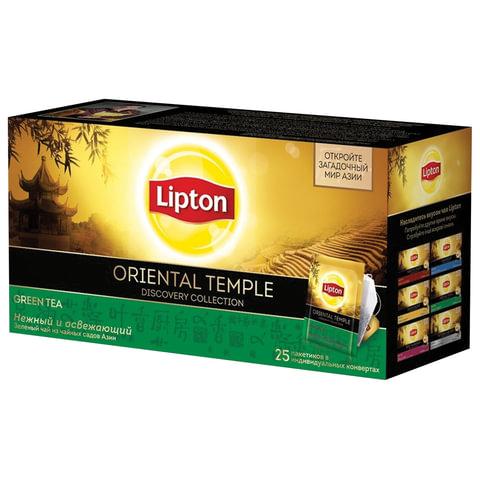 "Чай LIPTON (Липтон) Discovery ""Green Oriental Temple"", зеленый, 25 пакетиков по 2 г, 21187771"
