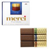 Конфеты шоколадные MERCI (Мерси), ассорти из молочного шоколада, 250 г, картонная коробка, 015416-00/35/49