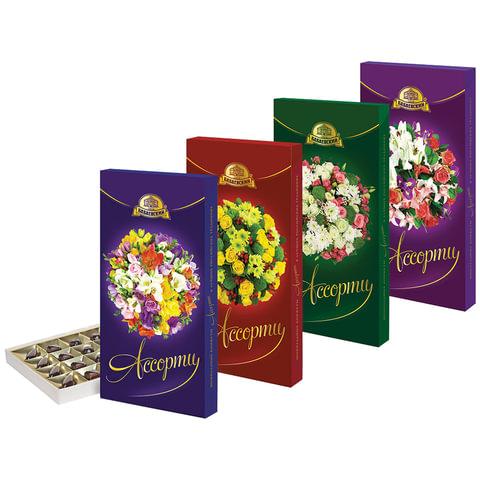 """Конфеты шоколадные АССОРТИ (БАБАЕВСКИЙ) """"Букеты"""",с тремя видами начинок, 300 г, картонная коробка, ББ05179"""