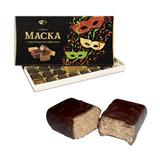 """Конфеты шоколадные РОТ ФРОНТ """"Маска"""", пралине с хрустящими вафлями в глазури, 300 г, картонная коробка, РФ15464"""
