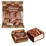 """Конфеты шоколадные РОТ ФРОНТ """"Птичье молоко"""", суфле, сливочно-ванильные, 225 г, пакет, РФ09922"""