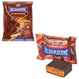 """Конфеты шоколадные БАБАЕВСКИЙ """"Наслаждение"""", мягкая карамель с орехами, 250 г, пакет, ББ10589"""