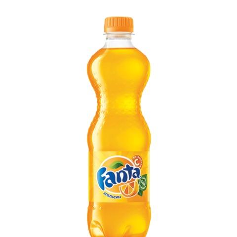 Напиток газированный FANTA (Фанта), 0,5 л, пластиковая бутылка, 85946