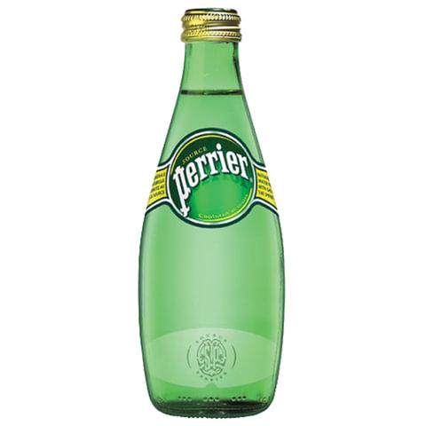 Вода газированная минеральная PERRIER (Перье), 0,33 л, стеклянная бутылка, Франция, WPERNT-033B24