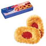 """Печенье BAHLSEN (Бальзен) """"Deloba"""", слоеное с красной смородиной, 100 г, Германия, 4383"""