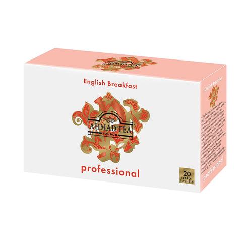 """Чай AHMAD (Ахмад) """"English Breakfast"""" Professional, черный, 20 пакетиков для чайника по 5 г, 1585"""