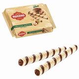 """Вафли-трубочки ЯШКИНО """"Ореховые"""", с шоколадно-ореховой начинкой, 190 г, КВ328"""
