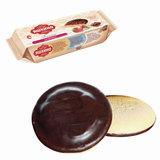 """Печенье ЯШКИНО """"Клубника"""", сдобное, с бисквитом, джемом и шоколадной глазурью, 137 г, ЯП208"""