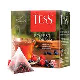 """Чай TESS (Тесс) """"Forest Dream"""", черный с малиной и черникой, 20 пирамидок по 1,8 г, 0784-12"""