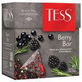 """Чай TESS (Тесс) """"Berry Bar"""", черный с ароматом ежевики и черной смородины, 20 пирамидок по 1,8 г, 0785-12"""