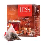 """Чай TESS (Тесс) """"Caramel Charm"""", черный с карамелью, 20 пирамидок по 1,8 г, 0883-12"""