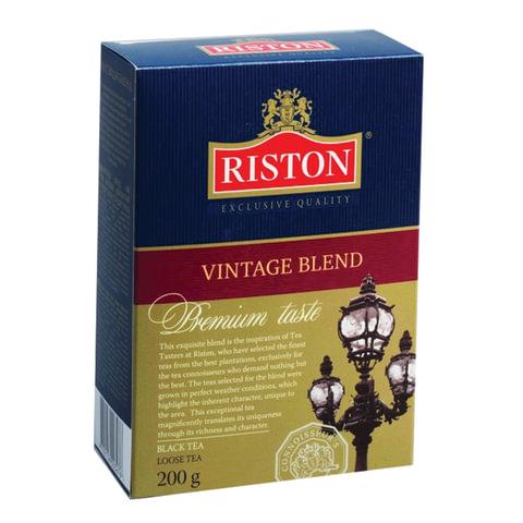 """Чай RISTON (Ристон) """"Vintage Blend"""", черный листовой, картонная коробка, 200 г, RUVIBL200/8"""