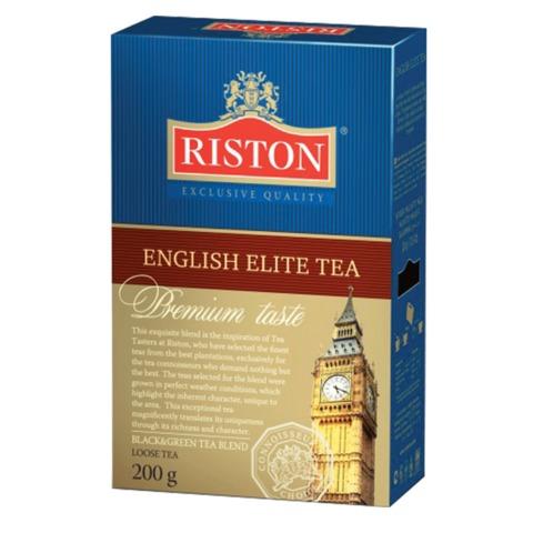 """Чай RISTON (Ристон) """"English Elite Tea"""", черный и зеленый листовой с бергамотом, купаж, 200 г, RUEET200/8"""