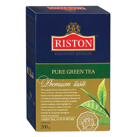 """Чай RISTON (Ристон) """"Pure Green Tea"""", зеленый листовой, картонная коробка, 200 г, RUGRP200/8"""