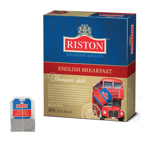 "Чай RISTON (Ристон) ""English Breakfast"", черный, 100 пакетиков по 2 г, RUEBR100B/12"