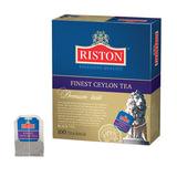 """Чай RISTON (Ристон) """"Finest Ceylon Tea"""", черный, 100 пакетиков по 1,5 г, RUFCT100B/12"""