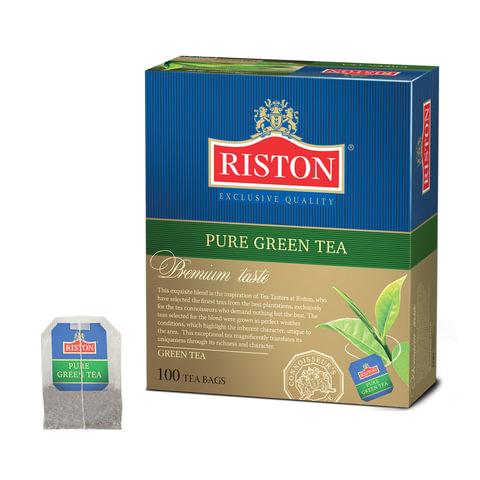 """Чай RISTON (Ристон) """"Pure Green Tea"""", зеленый, 100 пакетиков по 2 г, RUGRP100BB/12"""