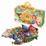"""Подарок новогодний """"Новогодний сувенир"""", 300 г, набор конфет и пр., ассорти, картонная коробка, ОК18778"""