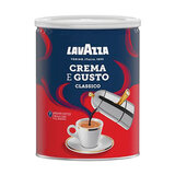 "Кофе молотый LAVAZZA ""Crema E Gusto"", 250 г, жестяная банка, 3882"