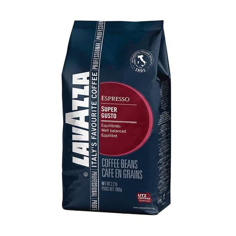 """Кофе в зернах LAVAZZA (Лавацца) """"Super Gusto UTZ"""", натуральный, 1000 г, вакуумная упаковка, 4517"""