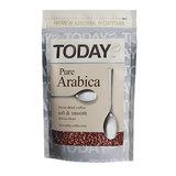 """Кофе растворимый TODAY """"Pure Arabica"""", сублимированный, 75 г, 100% арабика, мягкая упаковка, 9955"""