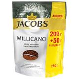 """Кофе молотый в растворимом JACOBS """"Millicano"""", сублимированный, 250 г, мягкая упаковка, 8050063"""