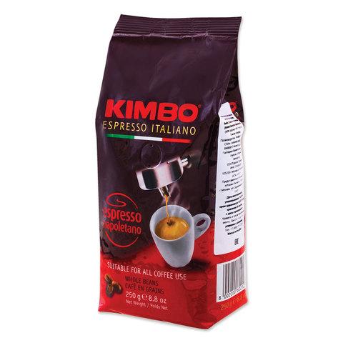 """Кофе в зернах KIMBO """"Espresso Napoletano"""" (Кимбо """"Эспрессо Наполетано""""), натуральный, 250 г, вакуумная упаковка"""