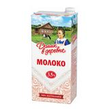 Молоко ДОМИК В ДЕРЕВНЕ, жирность 3,5%, ультрапастеризованное, картонная упаковка, 950 г, 5900