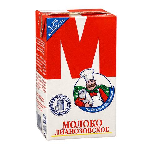 Молоко М Лианозовское, жирность 3,2%, ультрапастеризованное, картонная упаковка, 950 г, 11533