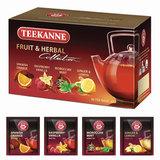 """Чай TEEKANNE (Тикане) """"Fruit tea collection"""", фруктовый, ассорти 4 вкуса, 20 пакетиков, Германия, 45622"""
