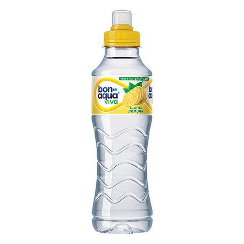 """Вода негазированная питьевая BONAQUA (БонАква) """"Viva"""", со вкусом лимона, 0,5 л, пластиковая бутылка, 663201"""