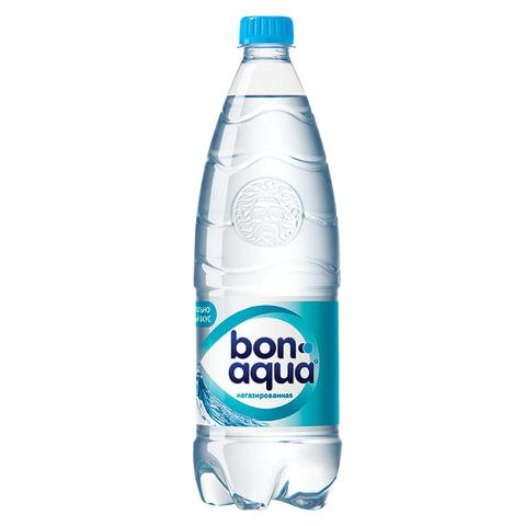Вода негазированная питьевая BONAQUA (БонАква), 1 л, пластиковая бутылка, 325204