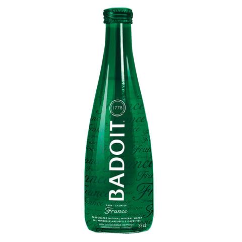 Вода газированная минеральная BADOIT (Бадуа), 0,33 л, стеклянная бутылка, Франция, 340007484