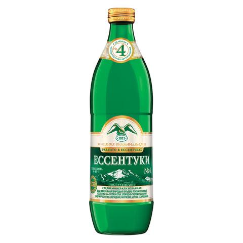 """Вода газированная минеральная ЕССЕНТУКИ """"№4"""", 0,54 л, стеклянная бутылка, 340025534"""