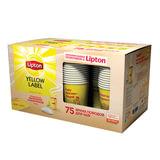"""Промонабор: Чай LIPTON (Липтон) """"Yellow Label"""", черный, 3 шт. х 100 пакетиков х 1,6 г + 75 стаканов, 1080 г, 67252807"""