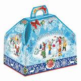 """Подарок новогодний """"Госпожа - Метелица"""", 800 г, набор конфет и пр., ассорти, картонная коробка, 1568"""