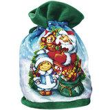 """Подарок новогодний """"С Новым Годом!"""", 800 г, набор конфет и пр., ассорти, тканый мешок, 1610"""