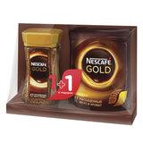 """Промонабор: Кофе растворимый NESCAFE (Нескафе) """"Gold"""", сублимированный, 1+1 в подарок, 95 г + 75 г, 12207443"""