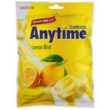 """Конфеты карамель с ксилитолом LOTTE """"Anytime"""", лимон-мята, леденцовая, 74 г, пакет, Корея, 562018"""