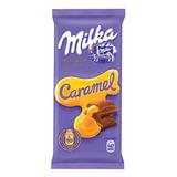 Шоколад MILKA (Милка), молочный, с карамельной начинкой, 90 г, 60378