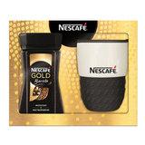 """Промонабор: Кофе молотый в растворимом NESCAFE """"Gold Barista"""", 85 г, стеклянная банка + термокружка, 12357585"""
