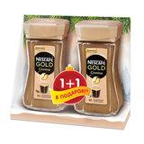 """Промонабор: Кофе растворимый NESCAFE (Нескафе) """"Gold Crema"""", 1+1 в подарок, 95 г + 95 г, 12353972"""