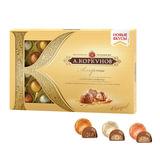 Конфеты шоколадные А.КОРКУНОВ, ассорти из молочного шоколада, 256 г, картонная коробка, 10166795