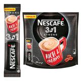 """Кофе растворимый NESCAFE """"3 в 1 Крепкий"""", 20 пакетиков по 14,5 г (упаковка 320 г), 12235512"""